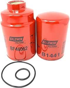 Baldwin BF46062 (BF9882 Obsolete) - B1441 Filter Set For Chevrolet/GMC 6.6L Turbo Diesel