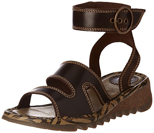 Tily722fly Marrón Dk para Fly Sandals Mujer London Heels 001 Brown 5144YF