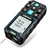 Laser Measure, Acegmet 229Ft M/In/Ft Laser Measuring Tape Backlit LCD with Mute Function, Measure Distance, Area and Volume, Pythagorean Mode Laser Measuring Device with 2 Bubble Levels