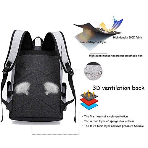 Mens Business Backpack Notebook Womens Bags Rucksack For Waterproof 20inch Backpacks Black School Travel Laptop College Lightweight zPqFHaPn