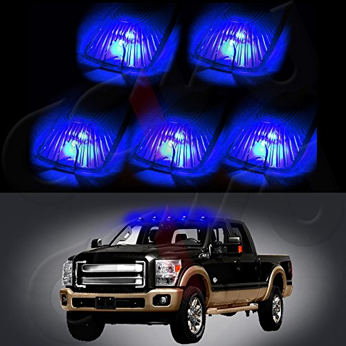 cciyu 5x Smoke Lens Cab Marker Cover case+5x194 10-Led Bulbs Replacement fit for 1988-2000 Chevrolet C2500 C3500 K1500 K2500 C1500 K3500 1988-2000 GMC C1500 C2500 C3500 K1500 K2500 K3500 etc