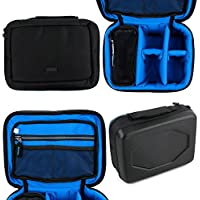 Protective EVA Action Camera Case (in Blue) - Compatible with the Lenco Sportcam 100 Action Cam - by DURAGADGET