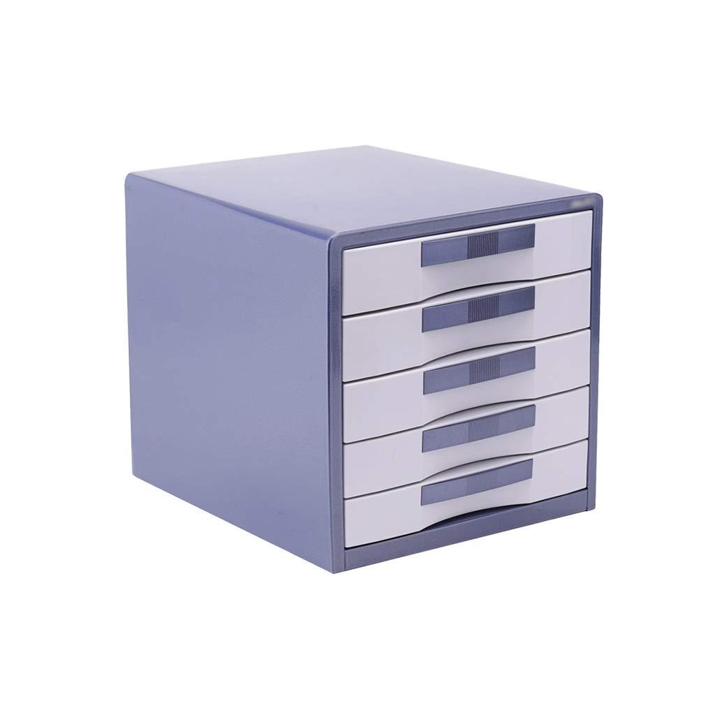 Bxwjg Flat File Cabinet, Drawer Organizer Lockable Aluminum Alloy (Size: L30W35H30.8cm) (Color : A1)