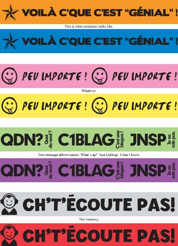 Big Bold French Wristbands Set of 40 by Teacher's Discovery (Image #1)