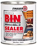 zinser sealer - Rust-Oleum 271409 Clear Zinsser 271461 B-I-N Advanced Synthetic Shellac Sealer, 1 quart Can (Pack of 4)