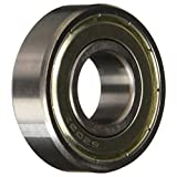 "Uxcell a13110600ux0448 17mm/40mm/12mm Metal Sealed Deep Groove Ball Bearing 6203Z, 0.47"" width, 0.67 Metal"