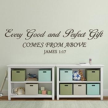Amazoncom Bible Wall Decal Baby Nursery Wall Quote Christian - Bible verse nursery wall decals