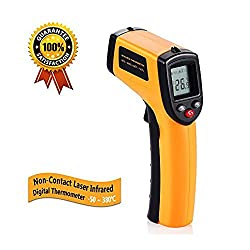 Non Contact Infrared Thermometer Temperature Gun With Laser Sight Max Display Ir Thermometer