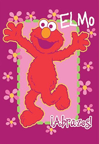 Royal Plush Extra Heavy Twin Size Mink Blanket 60'' x 80'') - A Hug From Elmo by Ben&Jonah