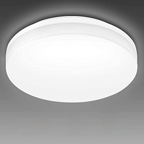 Amazon Com Le Flush Mount Ceiling Light Fixture Waterproof 24w Led Ceiling Light 2x100w Equivalent 2400lm 13 Inch 5000k Bright White Ceiling Lamp For Bathroom Kitchen Bedroom Porch Hallway Non Dimmable Home Improvement