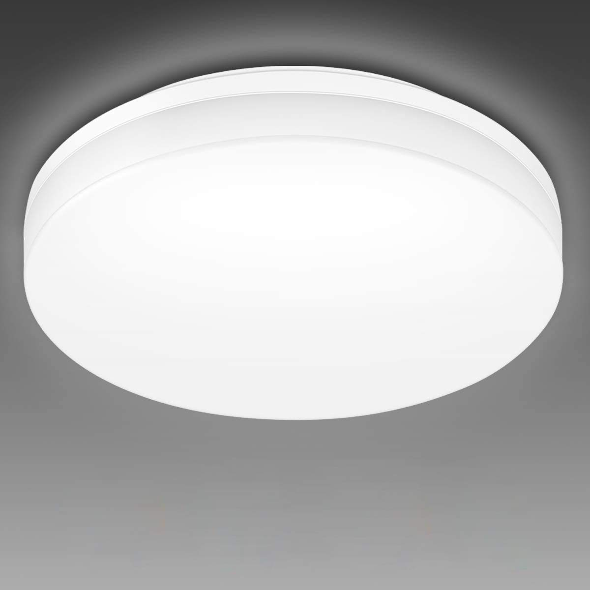 Lepro 24W LED Ceiling Light, IP54 Waterproof, Daylight White 5000K, 2400lm Bright Flush Ceiling Light for Bathroom, Kitchen, Hallway, Outside Porch and More