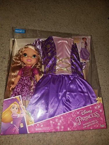 Disney princess rapunzel doll and girl dress gift set walmart exclusive