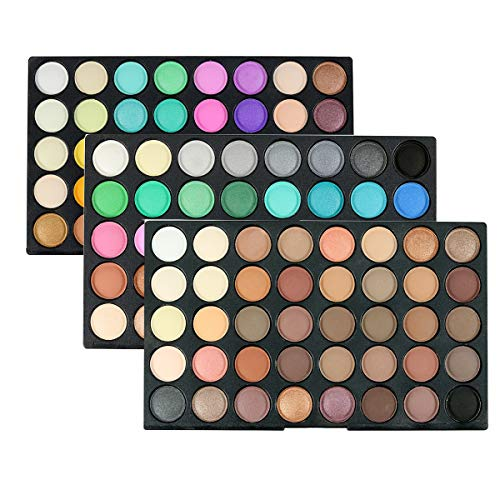 120 Colors Eye Shadow Palette Shimmer Matte, Cosmetic Powder Eyeshadow Palette Makeup Set