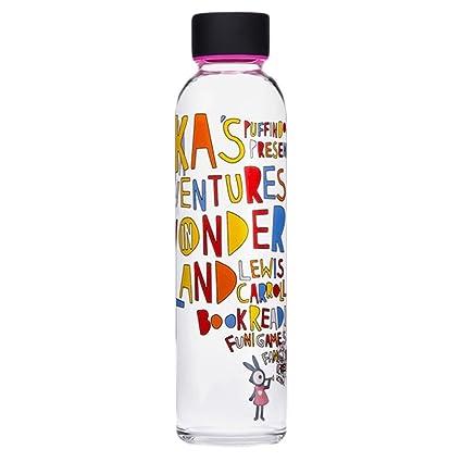 La creatividad de la botella 550 ml de agua con el vidrio de cristal Envoltura Letras
