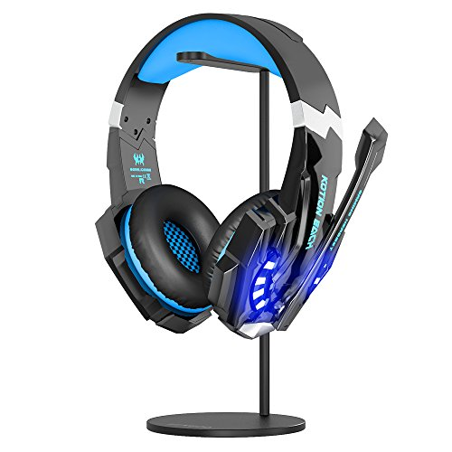 Large Product Image of BENGOO Gaming Headset Headphone Stand for PC PS4 Xbox One Turtle Beach Headset, Aluminum Headset Holder Headphones Display Stand Mount for Desk - Black (Not Included Headset)