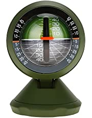 Car Inclinometer Level, Outdoor Multifunction Car Inclinometer Equipment Angle Slope Meter Balancer Luminous High-Precise Car Compass Clinometer Indicator