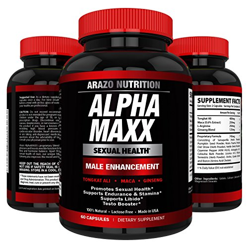 AlphaMAXX Male Enhancement Supplement Nutrition product image