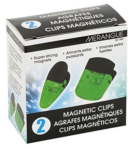 Jumbo Magnetic Clips - MERANGUE 2-Pack Jumbo Magnetic Clips, Green (1018-3151-60-000)