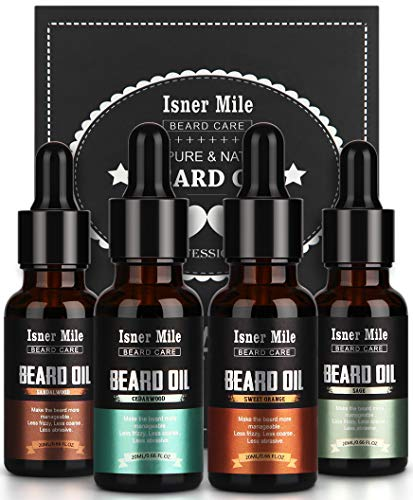4 Pack Beard Oil Set Leave in Conditioner Kit