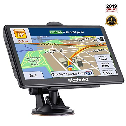 [2019 Upgraded Version] GPS Navigation for car, 7 inch HD Capacitive Touch Screen GPS Navigation System with 8G Memory, Attach Sunshade,Free Lifetime Maps Update,Pre-Install North America map (Garmin Live Traffic)