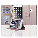 NAVOR Slim & Light Flip Wallet case with Apple Window View for iPhone 6 Plus/ 6S Plus [5.5 Inch] - Rose Gold