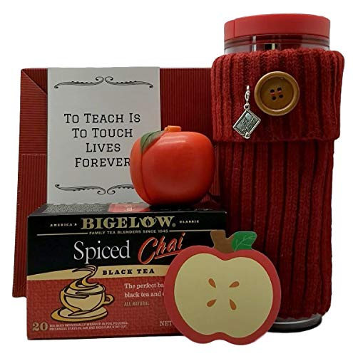 - Gift Basket For Teacher Thank You Starbucks Coffee Mug Bigelow Chai Tea 5 Piece Bundle