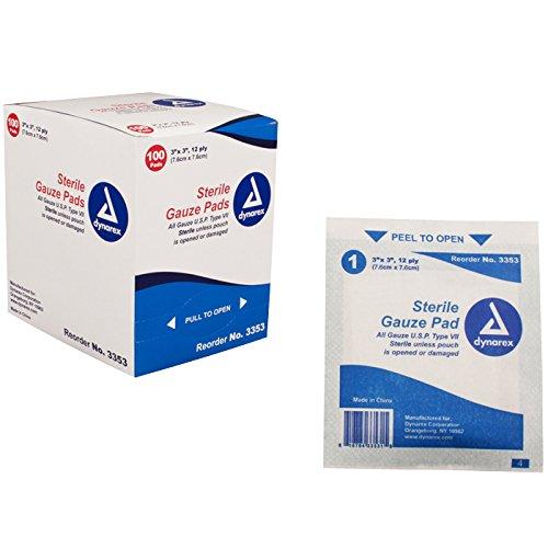 UPC 616784335339, Dynarex Gauze Pad Sterile 12 Ply, 2400 Count