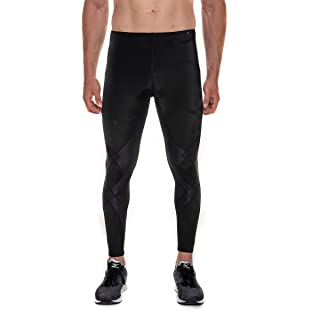 CW-X Men's Stabilyx Joint Support Compression Sports Tights, Black, Medium