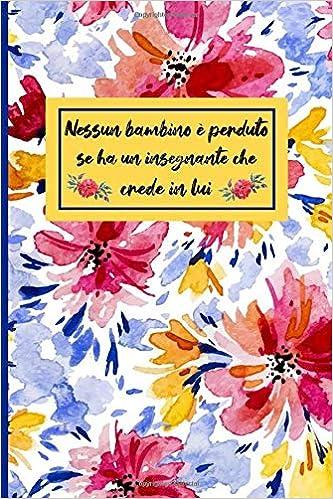 Taccuino Journal Agenda Regalo maestra agenda regalo insegnante fine anno Libro 110 pagine a righe