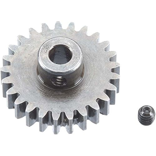 Robinson Racing Products Robinson Racing 1225 Extra Hard High Carbon Steel Motor Pinion Gear, 5Mm Bore, 1.0 Mod Pitch, 25 Tooth, Brown/A
