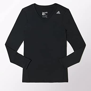 132bf1ff6a7af Adidas Techfit Women's Long Sleeve Top: Amazon.co.uk: Sports & Outdoors