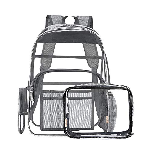 Heavy Duty Clear Backpacks for School with Clear Bags Best Transparent Backpack Large Clear Plastic Book Backpack Daypack