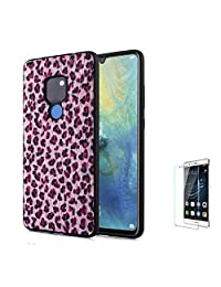 For Huawei Mate 20 Pro Case [with Free Screen Protector],Funyee New Creative Leopard Print Plush Flexible Soft TPU Silicone Shockproof Ultra Thin Durable Phone Case for Huawei Mate 20 Pro,Pink