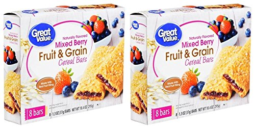 Great Value Fruit & Grain Cereal Bars, Mixed Berry, 10.4 oz, 8 Count (Pack of 2) by Great Value (Image #2)