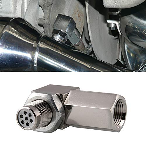 Fuel Catalytic Converter - YUSHHO56T Oxygen Sensor Connector Air Intake System Converter 90 Degree O2 Oxygen Sensor Spacer Car Engine Light Converter Adapter Accessories - Silver