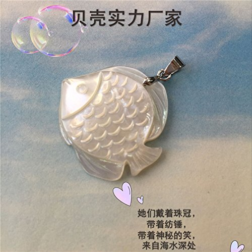- 925 sterling silver natural seawater mother pearl shell necklace pendant women girls lovely delicate hand-carved shell carving silver necklace