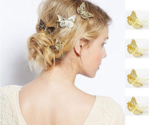 (Auch Butterfly Hair Clips, Hair Accessories, Hairpin 4Pcs -)