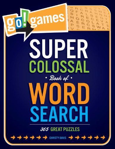 Go!Games Super Colossal Book Of Word Search: 365 Great Puzzles, Camping Word Search Puzzle And Brain Teaser Games, Camp Games Kids And Adults Love