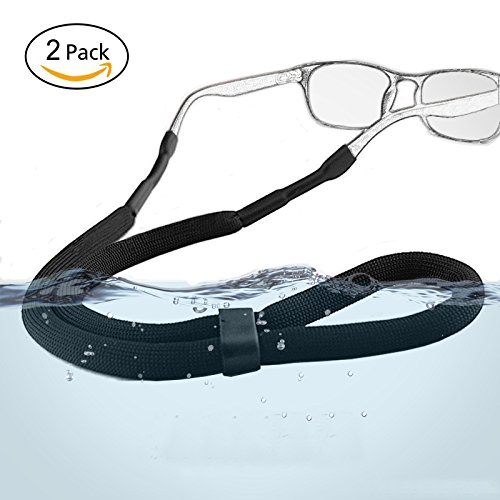 Adjustable Sports Sunglasses Safety Holder Floating Retainer Strap Eyewear Retainer, Black, Pack of - Retainer Sunglasses Floating Best
