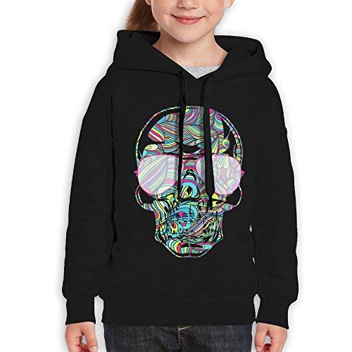 FDFAF Teenager Youth Sunglass Colorful Skull Visor Fashion Hoodie Sweatshirt XL - Odd Sunglasses Future