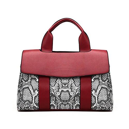 Tisdaini Bolsos de las mujeres bolsos de cuero de la PU bolsa de hombro diseño elegante bolso para las mujeres 2018 rojo Rojo