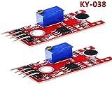 Leyal 2PCS Smart Electronics KY-038 4pin Mini Voice Sound Detection Sensor Module Microphone Transmitter for arduino DIY KIT