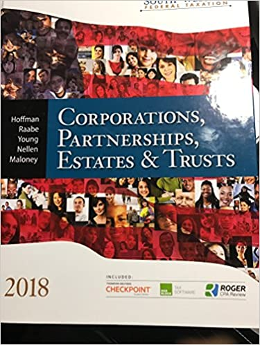 South western federal taxation 2018 corporations partnerships south western federal taxation 2018 corporations partnerships estates and trusts 41st edition fandeluxe Gallery