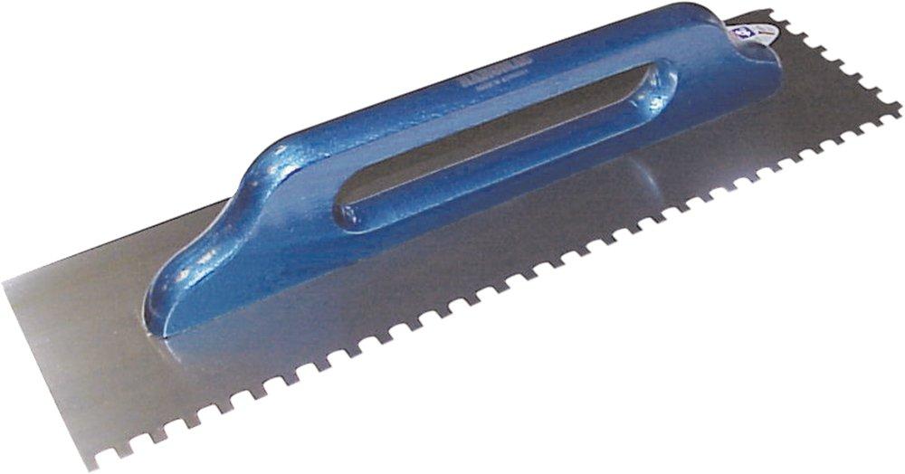 Haromac Schweizer Glä ttekelle, 10 x 10 mm gezahnt, rostfrei, 500 x 130 mm mit Holzgriff, 10551010