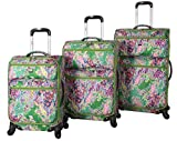 Lucas Printed Softside 3 Piece Lightweight Expandable Luggage - Best Reviews Guide