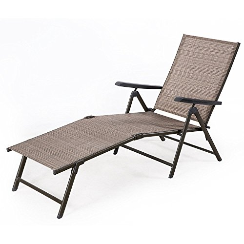 BaoChen Outdoor Chaise Lounge Chair U2013 Adjustable Folding Patio Pool Beach  Sunny Recliner L ..