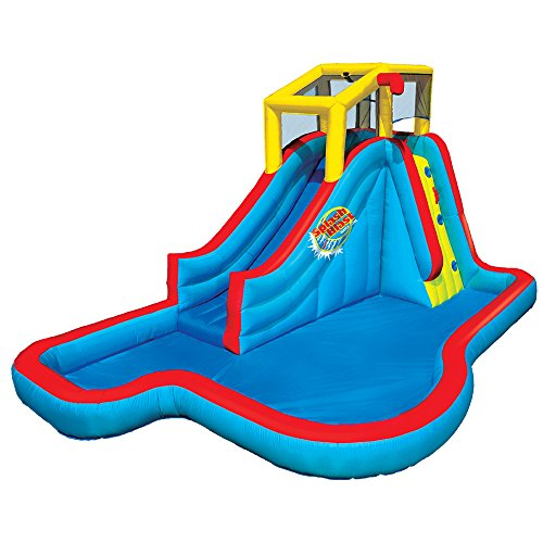 Spring & Summer Toys Banzai Slide 'N Soak Splash Park Constant Air Water Slide (Nearly 8ft Tall and Includes Blower