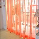 YanHoo 1 PCS Pure Color Tulle Door Window Curtain Drape Panel Sheer Scarf Valances (F)