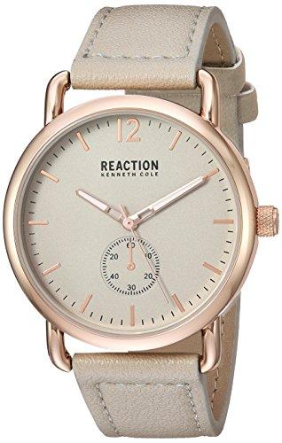 Kenneth Cole REACTION Women's Quartz Metal Casual Watch, Color:Grey (Model: RK50101002)