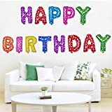 Grandshop Happy Birthday Letters Foil Balloons, Multi Color ( Pack of 13 Letters)